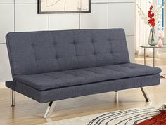 The klik klak sofa bed is the best option for those small homes or with only one room available. The sofa bed is ideal for studios where living room and Grey Sofa Bed, Pink Sofa, Sofa Design, Furniture Design, Sofa Italia, Italian Sofa, Retro Sofa, Comfy Sofa, Classic Sofa