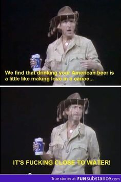 Funny pictures about Monthy Python on American beer. Oh, and cool pics about Monthy Python on American beer. Also, Monthy Python on American beer. British Humor, British Comedy, Monty Python, Best Funny Pictures, Funny Photos, Funny Images, Eric Idle, Michael Palin, American Beer