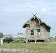 The original 1874 Chicamacomico Lifesaving Station, in Rodanthe, NC.