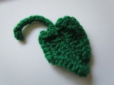 Fall Pumpkin Leaf – Free Crochet Pattern - Making a pumpkin monster costume for my son, this will work great for the vine arms and legs