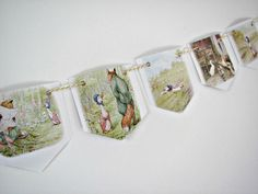 Paper Bunting ~ Beatrix Potter Jemima Puddleduck Nursery Bunting ~ Party decoration ~ Baby shower gift ~ Child birthday ~ Nostalgic decor