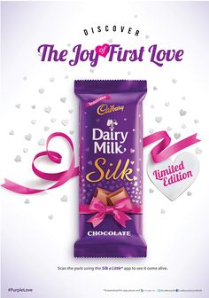 Cadbury Silk came up with special edition pack for valentines day. Food Graphic Design, Food Poster Design, Food Design, Ads Creative, Creative Posters, Creative Advertising, Banner Design Inspiration, Packaging Design Inspiration, Chocolate Lovers Quotes