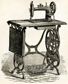 Old Design Shop ~ free digital image: vintage sewing machine 1878