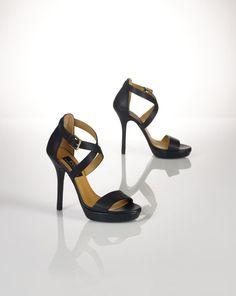 Calfskin Open-Toe Sandal - Polo Ralph Lauren Sandals - RalphLauren.com