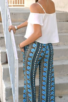 Aimee Pants in Blue Mosque