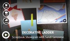 In her latest video tutorial, Sandi Genovese shows how to turn the decorative ladder from Create-ologie into a creative card display. Love how Sandi uses different clothespins to attach the holiday cards to the ladder rungs. #DIY #ladder #holidaycards #decor @Brenda Noble ologie
