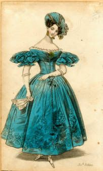 1831 Evening Dress:: Fashion Plate Collection, 19th Century.  ccdl.libraries.claremont.edu