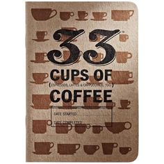 33 Books Coffee Tasting Journals, Set of 3 ($16) ❤ liked on Polyvore featuring home, home decor and stationery
