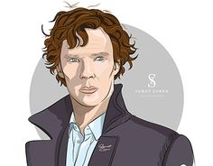"""Check out new work on my @Behance portfolio: """"Benedict Cumberbatch illustration"""" http://be.net/gallery/42444485/Benedict-Cumberbatch-illustration"""