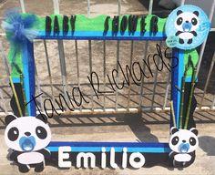 marco para fiestas panda Panda Party, Baby Shower, Party, Marcos Para Fiestas, Pandas, Favors, Manualidades, Decorations, Meet