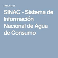 SINAC - Sistema de Información Nacional de Agua de Consumo