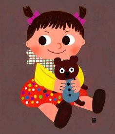 goolygooly illustration on Behance People Illustration, Cute Illustration, Illustrations, Painting For Kids, Art For Kids, Quick Sketch, Baby Cartoon, S Pic, Pictures To Draw