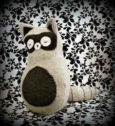Sleepy Raccoon Plush Woodland Stuffed Animal by RegalCottage. $28.00 USD, via Etsy.