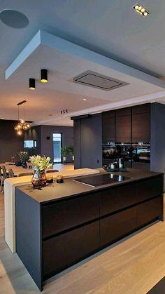 Luxury Kitchen Design, Kitchen Room Design, Home Room Design, Home Decor Kitchen, Interior Design Kitchen, Kitchen Ideas, Elegant Kitchens, Luxury Kitchens, Decoration Design