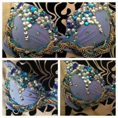 Mermaid Top. I like the chains at bottom. I'm sure Mermaids would pick up shiny stuff they find!