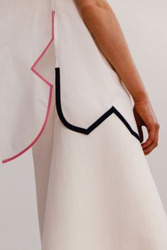 A nice hem detail from Ports 1961 Resort 2016 via Style.com