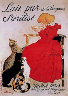 Théophile Alexandre Steinlen (1859-1923) - Poster for a Milk Product, 1894