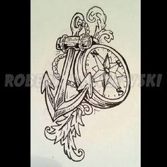 compass anchor tattoo - Google Search