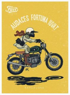 FUEL BESPOKE MOTORCYCLES #illustration #design #motorcycles #motos | caferacerpasion.com