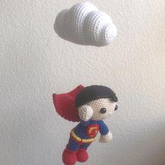 Hæklet uro med Superman - Se dette Instagram-billede af @mormorshaekleliv • 144 Synes godt om