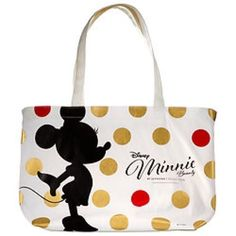"""❤️Limited Edition Sephora Minnie Mouse Tote❤️ Brand-new limited edition Sephora Minnie Mouse canvas tote...adorable Minnie silhouette with red and gold polka-dots...back is solid...tote measures 12.75""""x10.5""""x5""""...super cute for any Disney fan! Sephora Bags Totes"""