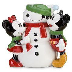 Disney Mickey & Minnie Share The Magic Snowman Cookie Jar
