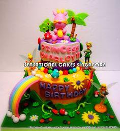 Sensational Cake Singapore , Online Cakes Singapore : BABY DRAGON 1ST BIRTHDAY CAKE SINGAPORE / CUTE PINK DRAGON BABY GIRL CAKE SINGAPORE / FAIRIES CAKE SINGAPORE