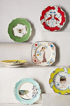 Nature Table Dessert Plate - anthropologie.com (1 of each - total of 6 plates)