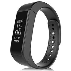 Ginsy Fitness Tracker Watch Bluetooth 40 Touch Screen Smart Wristband with Sleep Monitor Sport Pedometer Activity Tracker for Android and IOS Smartphone Black -- More info could be found at the image url.