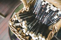 Test tubes filled with gourmet tea + cork = unique wedding favour or take home gift for a high tea event