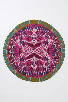 Mirrored Plumes Round Rug - Anthropologie.com