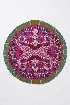 Mirrored Plumes Round Rug  #anthropologie $298 5'round
