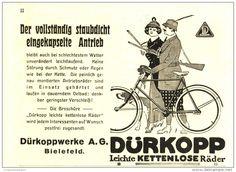Original-Werbung/Inserat/ Anzeige 1915 -  DÜRKOPP FAHRRÄDER -  ca. 140 x 110 mm