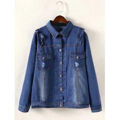 997c7014dde Spring Autumn new women casual denim jacket Plus Size Long Sleeve pocket  Denim jacket Fashion single breasted denim jacket
