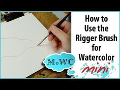 How to Use a Rigger or Script/Liner Brush for Watercolor - YouTube