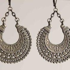 Boho Earrings Bohemian Earrings Gypsy Ethnic by NtikArtJewelry