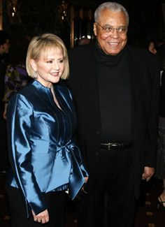 Actor James Earl Jones with his wife, Julienne Marie ...
