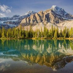 """""""Reflections in Bow Lake"""" by pennymiller is in the running to win Social Exposure Photo Contest Vol 2 photo contest at ViewBug.  Rock the vote, and give this image a leg up!"""