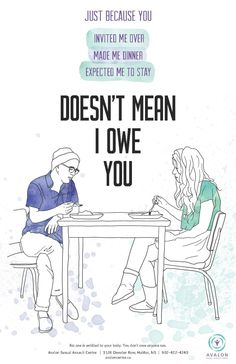"""I don't owe you"" awareness campaign posters."