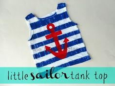 The little sailor tank top tutorial at www.thelittlegiggler.com #paintingfabric #ReFashion