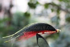 Wholesale!! 100 pcs Red&Black Feather Cone Heads Tube Flies Salmon Fly  Trout Fly Fishing Lures