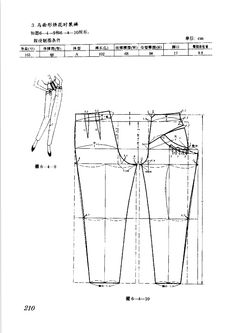 pants  #sewing #patternmaking #dressmaking Fabric Patterns, Clothing Patterns, Sewing Patterns, Pattern Cutting, Pattern Making, Diy Pantalon, Diy Clothes Making, Sewing Pants, Japanese Sewing