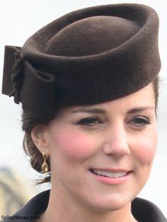 Duchess of Cambridge, March 17, 2015, Kiki McDonough Citrine Drop Earrings, Lock and Co. 'Betty Boop' Beret
