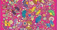 La Maison des Carrés Hermès   Fleurs et Papillons de Tissus #rose #html #papillons