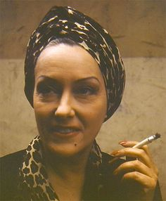 Rare color photo of Gloria Swanson taken backstage on the set of Sunset Boulevard