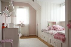 Built in bed flanked with large closets is a great design for a small bedroom! #coachbarn #bedrooms #design