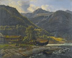 View at Skjolden in Lyster - Johan Christian Dahl1843