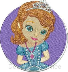 Sofia the First Cameo  Filled Embroidery Design 2 Sizes  Available in  4x4  and 5x7  Please do not redistribute these files  The following formats are available TO CHOOSE  from: DST,EXP,HUS,JEF,PES,VIP,VP3,XXX  If NO format is selected at Time of purchase the default (PES) format with be...