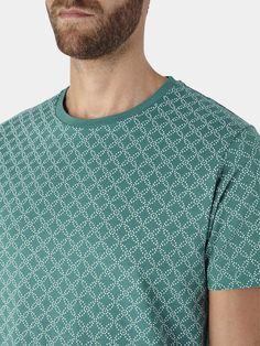 Green Geo Print T-Shirt