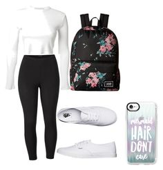 """""""Back to school"""" by maribeltheflower on Polyvore featuring Rosetta Getty, Venus, Vans, Casetify and plus size clothing"""